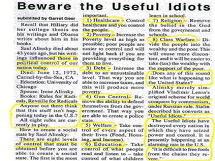 alinsky thesis Hillary rodham clinton's political science professor says he received a call from the white house in 1993 that resulted in wellesley college sealing her senior thesis.